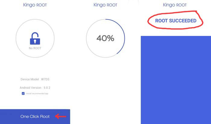 Kingo Root Advan Vandroid S50 4G Success