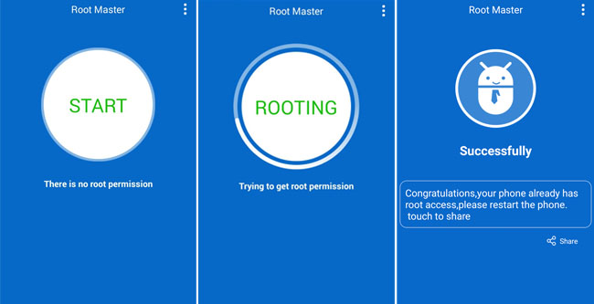 Root Master Oppo A57 Success